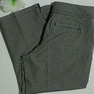 Charter Club Pants - Gingham capris pants black and white size 4
